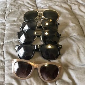 Accessories - FIVE pairs of sunglasses